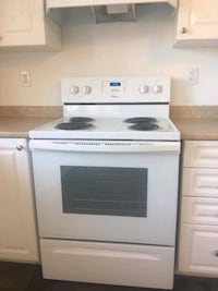 white and black electric coil range oven Brampton, L6X 1Y7