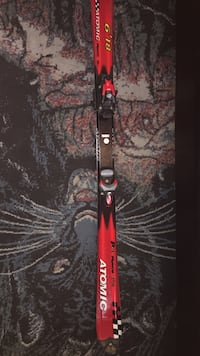 black and red Atomic brand snow ski Toronto, M8W 1B2