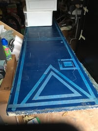 Blue Regulation Sized College Beer Pong Table