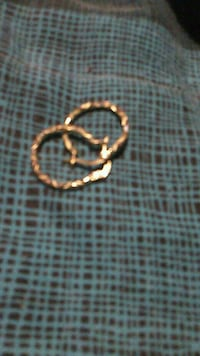 Gold filled hoops Collinsville