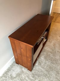 brown wooden single drawer side table Woodbridge, 22191