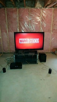 black flat screen TV with remote Sherwood Park, T8A