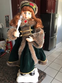 CHRISTMAS DOLL ANIMATED VINTAGE DOLL OBO Santa Ana