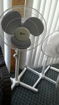 white and gray 3-bladed pedestal fan St. Catharines, L2N 1Y6