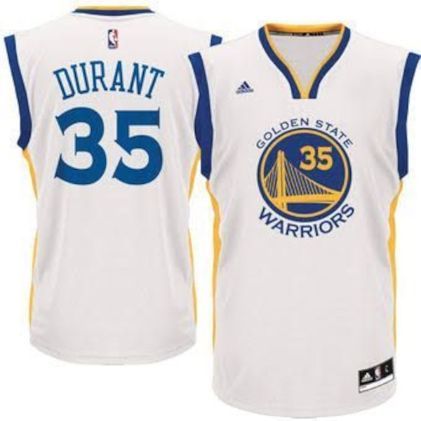 new styles 26ed0 bfb7e Kevin Durant Golden State Warriors Forma jersey