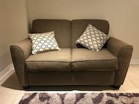 Gray fabric 2-seat sofa with throw pillows Mississauga, L4T 3G5