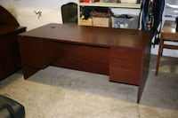 Wooden singal pedestal office desk Centreville, 20120