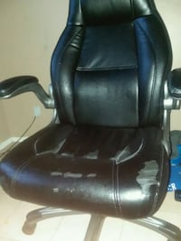 black leather padded rolling armchair Cape Coral, 33909