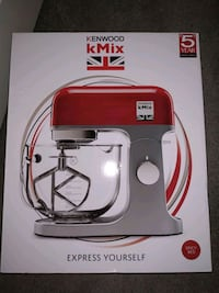 !!NEW!! Kenwood kMix Stand Mixer, 1000 w, Red Greater London, KT3 6AA