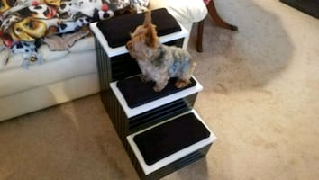 """Pet step with storage. Steps pad with 1""""of, Nu-Fo"""