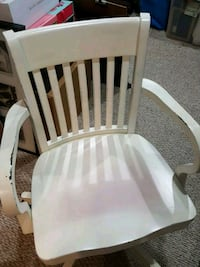 White Wooden Bankers chair Owings Mills, 21117