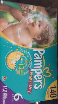 140 size 6 pampers baby dry Edmonton, T6C 0V3