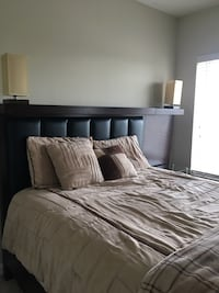 Queen Size Bed Frame & Two Side Tables Arlington, 22201