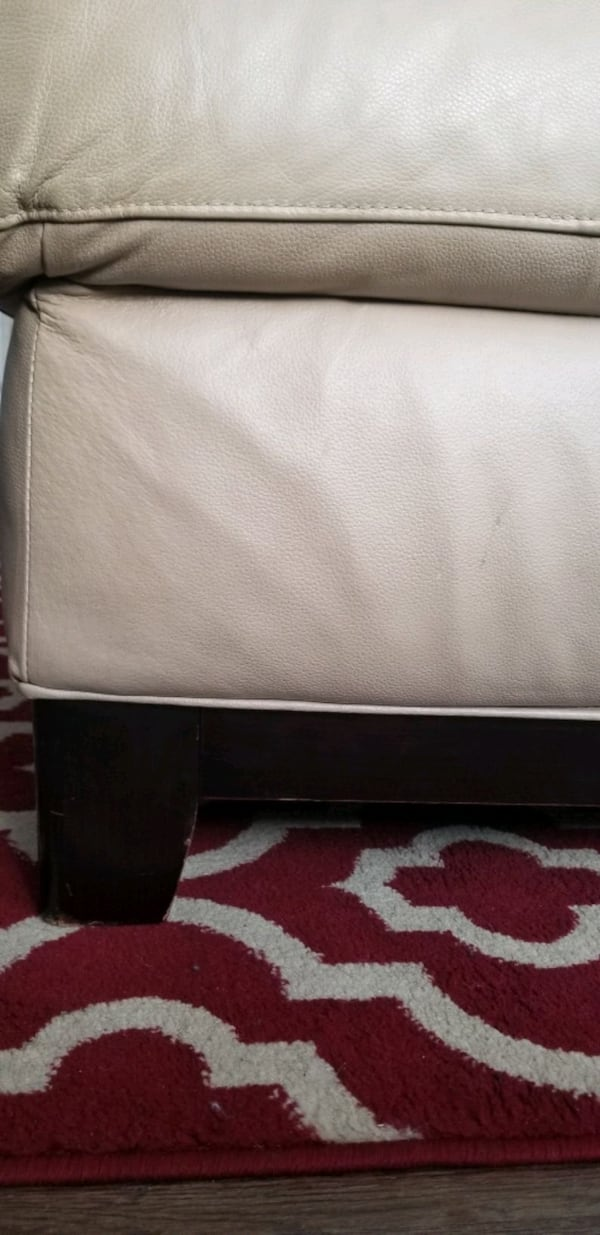 MUST GO!! Leather Sectional/ Ottoman. Make Offer 2