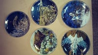 five decorative plates