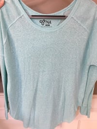 Teal TNA long sleeve Size S