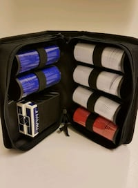 Casino Chips in Travel Case