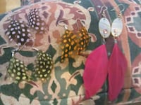 New Feather Earrings All Diff Colors Light Weight Vancouver