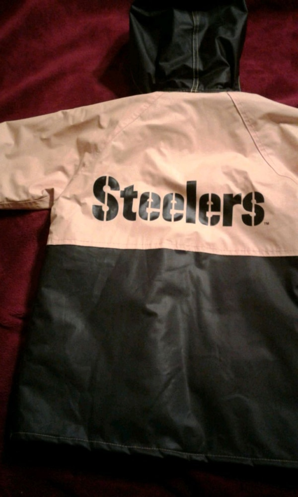 competitive price 521aa 6753a Toddler Steelers rain coat