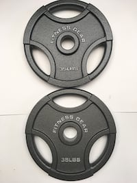 """35 lb Olympic weights (2"""" hole)"""
