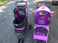 Purple pet gear and other stroller with  pet gear ramp  puedo hablar