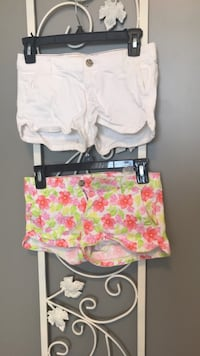 women's white and red short shorts Holly Springs, 27540