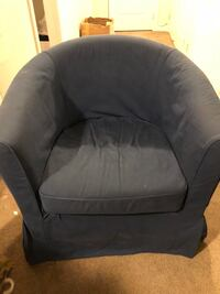 black fabric padded sofa chair Mississauga, M9M 3A9