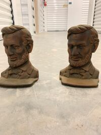Bookends. Brass or copper Abraham Lincoln bookend. Flagler Beach, 32136