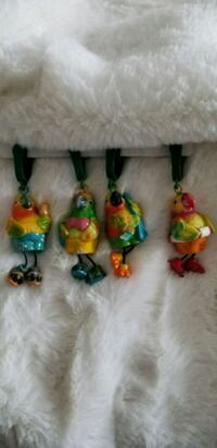 4 Parrot bird tablecloth weights new St. Catharines, L2T 4B8