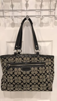 black and gray Coach monogram tote bag Mississauga, L4W 2Z1