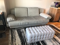 Grey couch + ottoman  42 km