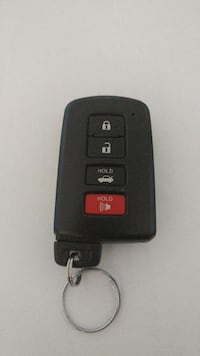 red and black car fob