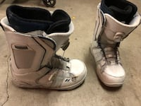 white-and-black snowboard boots Vancouver, V6H 2B7