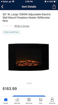 Wall mounted electric fireplace Elkhart, 46516