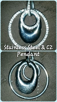 Stainless Steel CZ Pendant