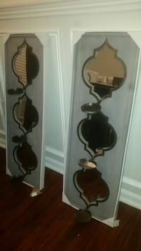 two brown wooden wall mount racks Indian Trail, 28079