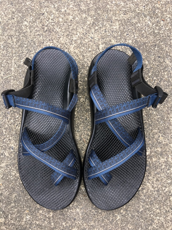 ac7a28b1728e CHACO Z 2 UNAWEEP MIDNIGHT BLUE YELLOW STRIPE MEN S HIKING SPORT SANDALS  SIZE 12 usado en venta en Puyallup