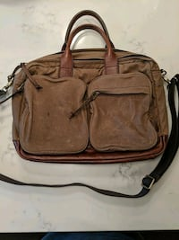 Fossil canvas laptop bag with leather accents Toronto, M2N 6G9