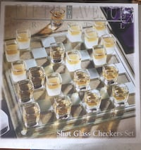 Shot glass game sets - checkers and roulette Chestermere, T1X 1R8