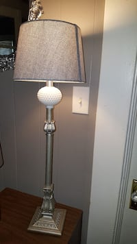 Unique Silver & White Lamp