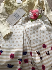 Brand new two dresses for girls both  6/9 months  Toronto, M4C 5J6