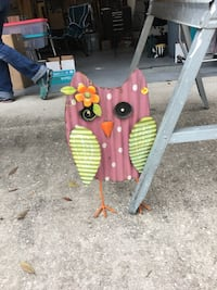 pink and green owl decor Kissimmee, 34744