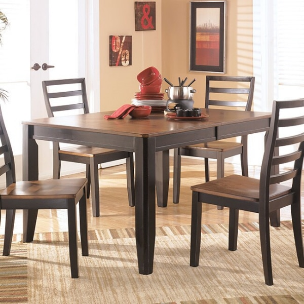 5 Piece Dining Set (Table + 4 Chairs) By Ashley Furniture