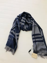 Burberry scarf in navy blue and grey shade Calgary, T3J 0J4