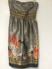 Forever21 Gray Silk Floral Size Small Lincolnwood, 60712
