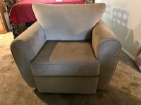 gray fabric sofa chair with ottoman 2294 mi