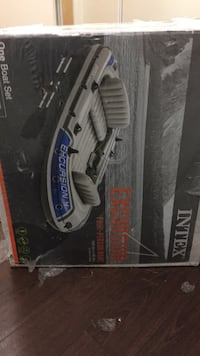 Intex Excursion 4, 4-Person Inflatable Boat Set with Aluminum Oars and High Output Air Pump (Latest Model)it's still in the box brand new