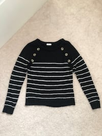 ARDENE Black Stripped Sweater Markham, L6B 1N4
