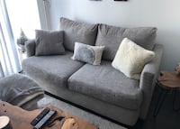 Sofa couch love seat grey fabric  Toronto, M8V 0G9
