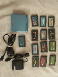 Gameboy advance sp 13 games charger Toronto, M1X 2A7